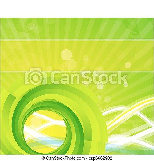 渦巻, ベクトル, 背景 - csp6662902