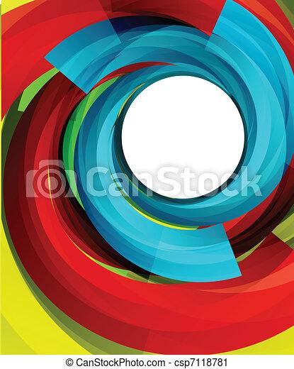 渦巻, ベクトル, 背景 - csp7118781