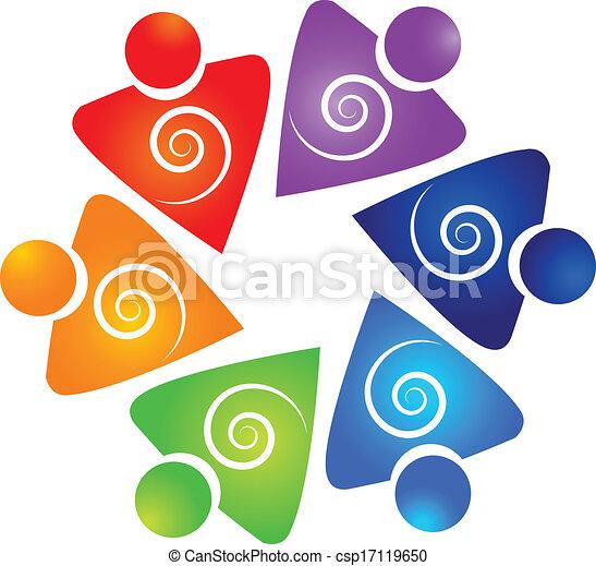 渦巻, ロゴ, ベクトル, チームワーク, ビジネス - csp17119650