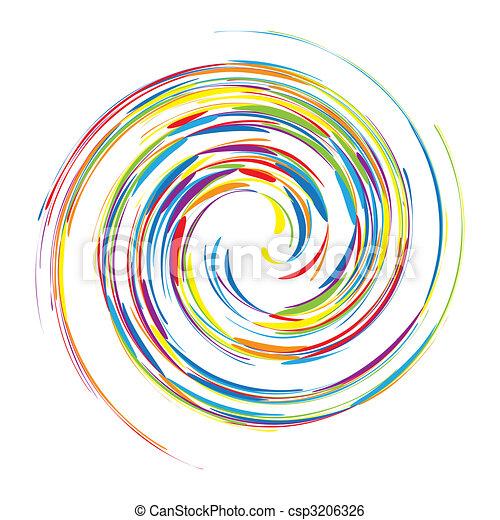 渦巻, 抽象的なデザイン, あなたの, 背景 - csp3206326