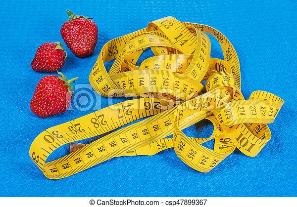 測定, いちご, テープ, karemat - csp47899367