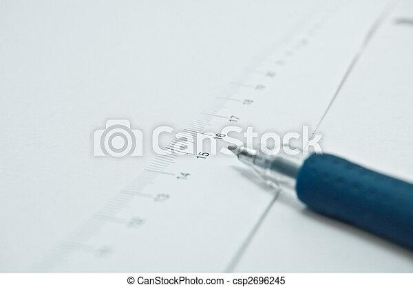 測定, ペン, テープ - csp2696245