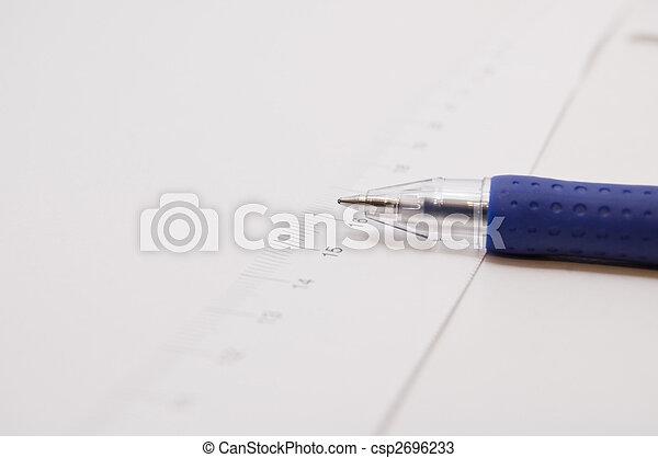 測定, ペン, テープ - csp2696233
