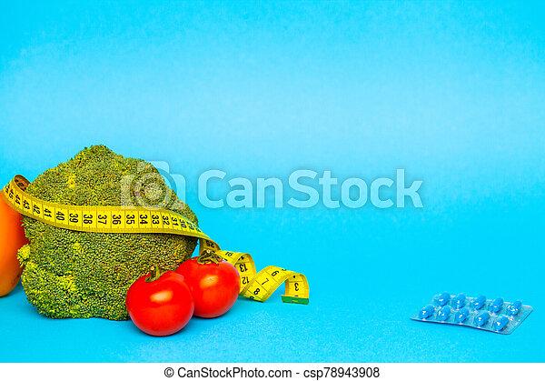 測定, 背景, 丸薬, 青, 損失, 重量, テープ - csp78943908
