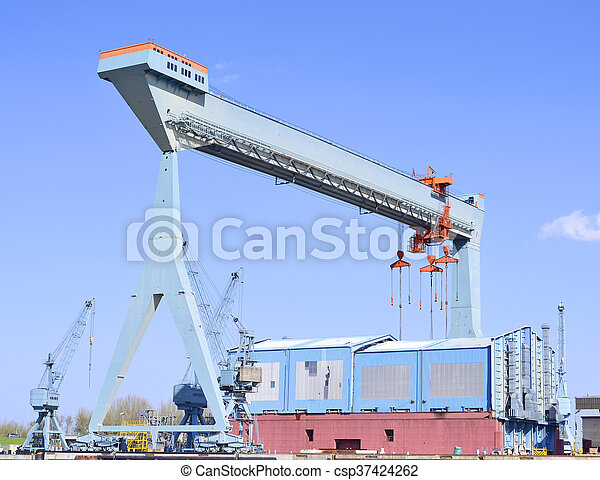 港口, 起重機 - csp37424262
