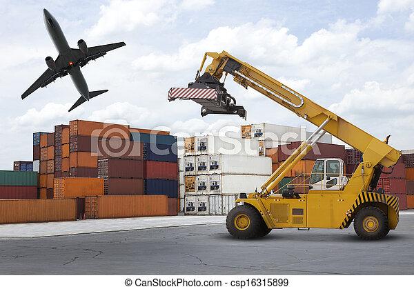 港, 産業, 山, o, ロジスティックである - csp16315899