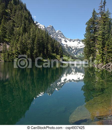 湖, 荒野, 阿爾卑斯山 - csp4937425