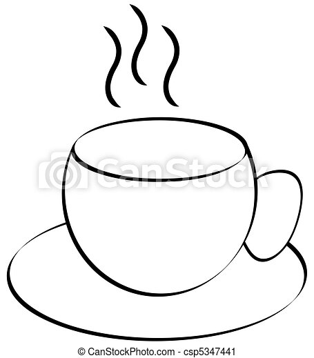湯気をたてる, チャコーヒーノキ, ∥あるいは∥, カップ - csp5347441