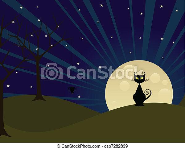 満月, 夜 - csp7282839