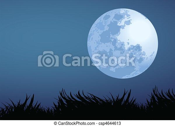 満月, 夜 - csp4644613