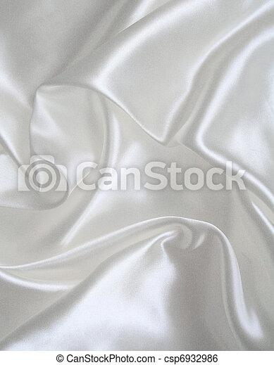 滑らかである, 優雅である, 背景, 結婚式, 白, 絹 - csp6932986