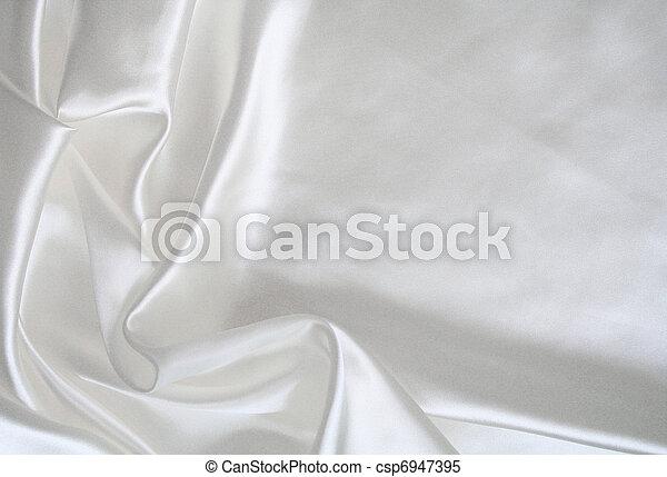滑らかである, 優雅である, 背景, 結婚式, 白, 絹 - csp6947395