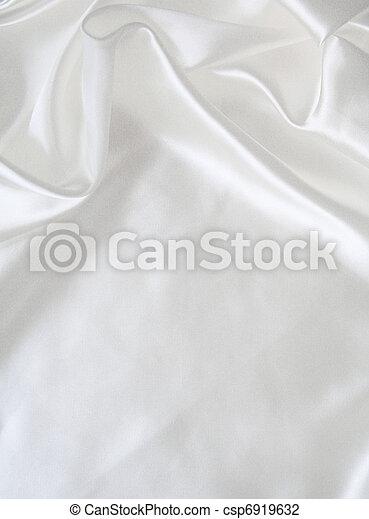 滑らかである, 優雅である, 背景, 結婚式, 白, 絹 - csp6919632