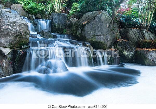 滝, 東洋人, 風景 - csp3144901