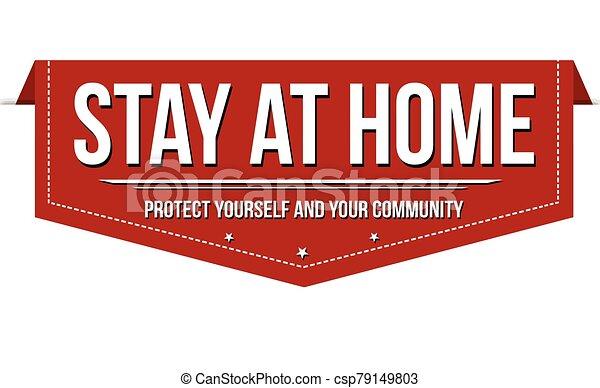 滞在, デザイン, 旗, 家 - csp79149803