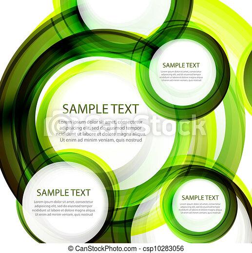 漩渦, 綠色的摘要, 矢量, 旗幟 - csp10283056