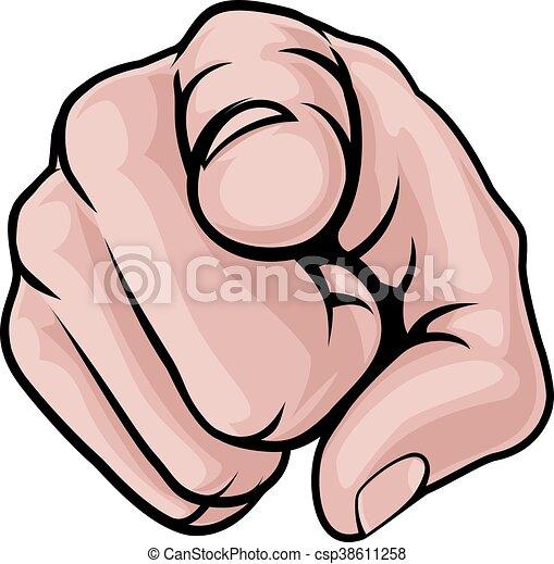 漫画, とんびが指さす, 手 - csp38611258