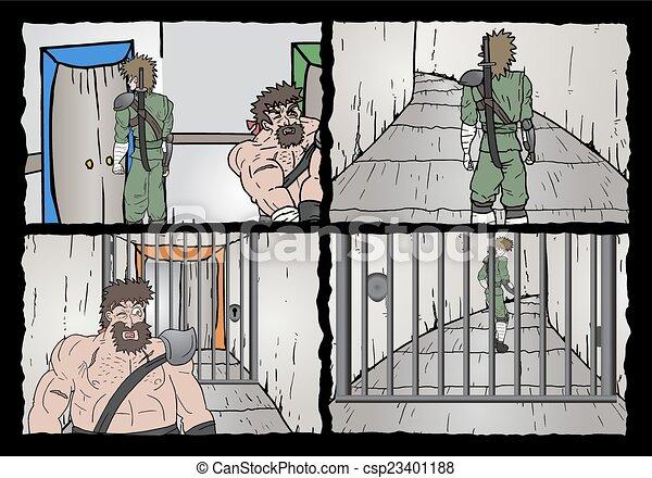 漫画, ページ - csp23401188