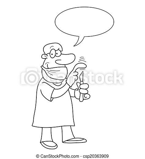 漫画, 医者 - csp20363909
