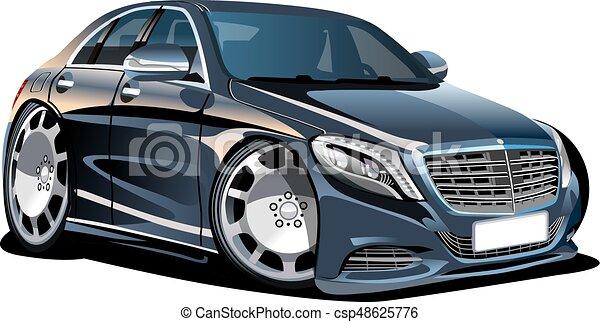 漫画, 自動車, ベクトル - csp48625776