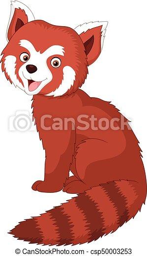 漫画, 赤いパンダ - csp50003253