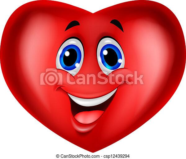 漫画, 赤い心臓 - csp12439294