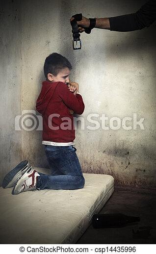 濫用, 犠牲者, 子供 - csp14435996
