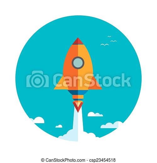 火箭, 事務, 向上, 項目, 開始, 新 - csp23454518