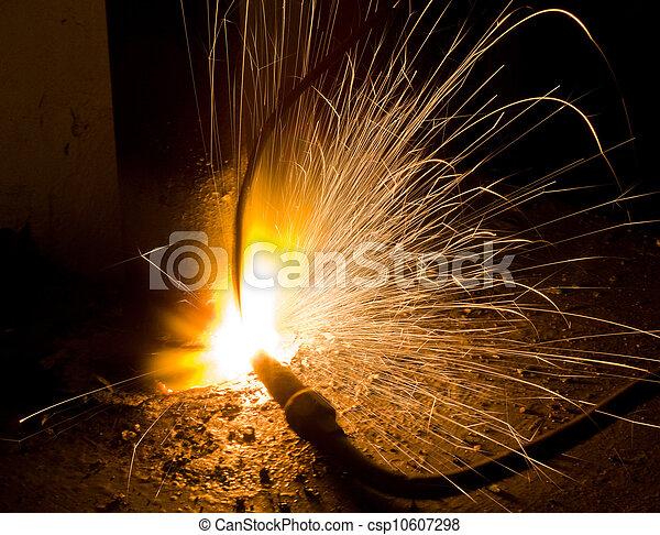 火花, 金属, 溶かされる - csp10607298
