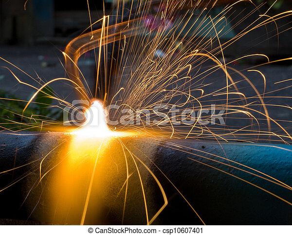 火花, 金属, 溶かされる - csp10607401