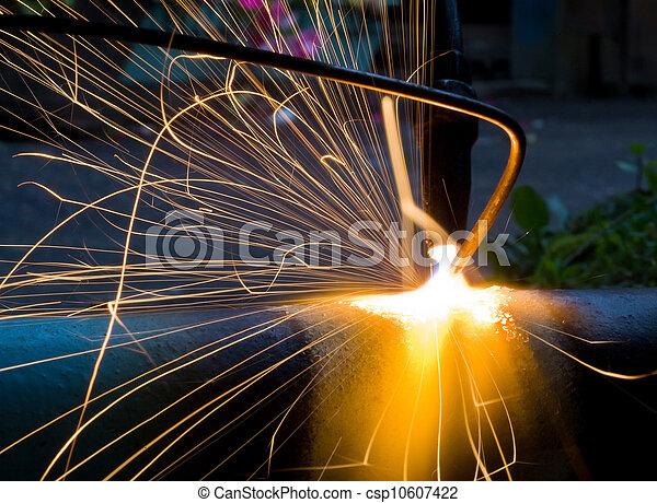 火花, 金属, 溶かされる - csp10607422