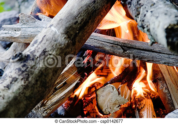 火, キャンプ - csp0142677