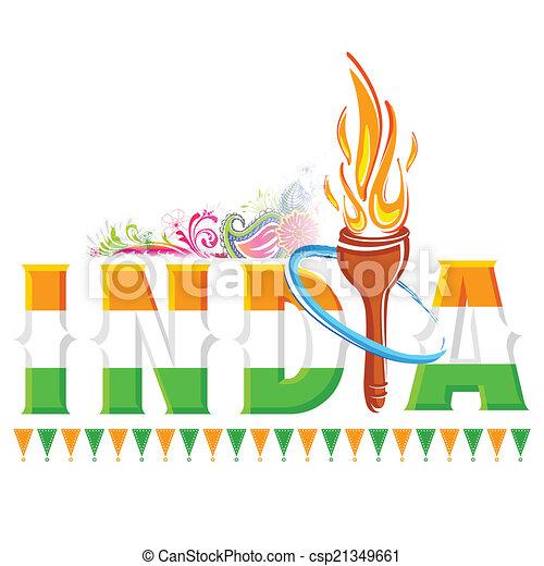 火, トーチ, インド, 背景 - csp21349661