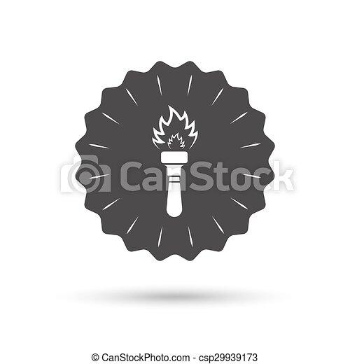 火, トーチ, シンボル。, 印, 炎, icon. - csp29939173