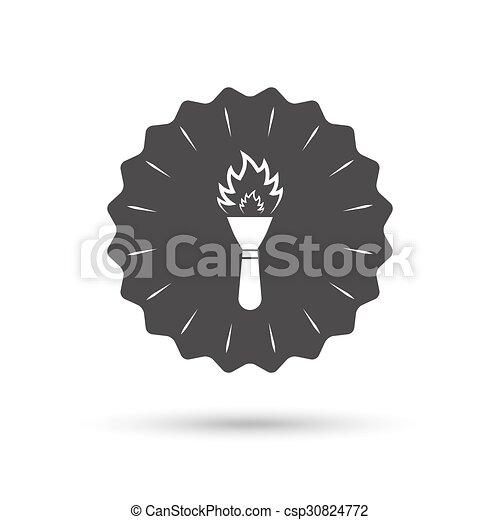火, トーチ, シンボル。, 印, 炎, icon. - csp30824772
