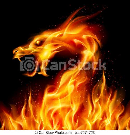 火, ドラゴン - csp7274728