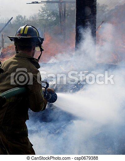 火, パッティング, から - csp0679388