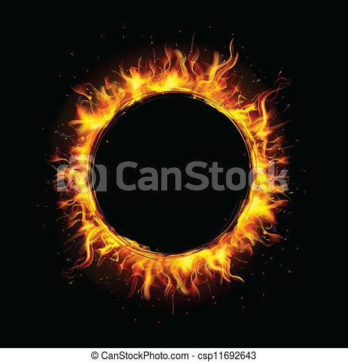 火, 円 - csp11692643