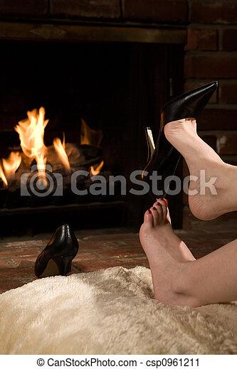 火, 取り去る, 靴 - csp0961211