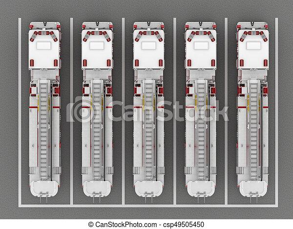 火, 平面図, トラック, 駐車 - csp49505450