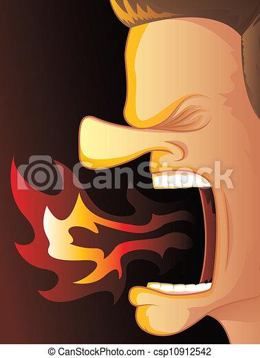 火, 怒り, 呼吸 - csp10912542