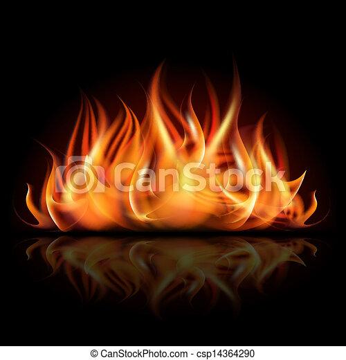 火, 暗い, バックグラウンド。 - csp14364290