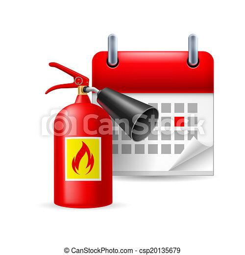 火 消火器, カレンダー - csp20135679