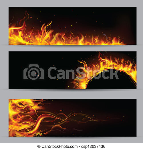 火, 炎, テンプレート - csp12037436