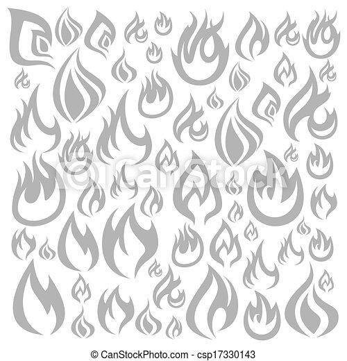 火, 背景 - csp17330143