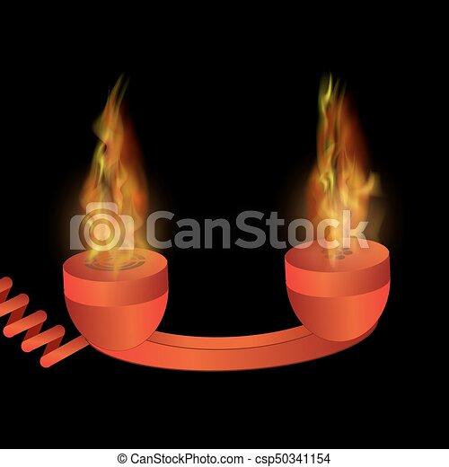 火, 電話, 炎, 赤, 燃焼 - csp50341154