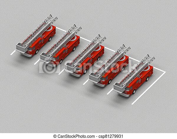 火, 駐車, トラック - csp81279931