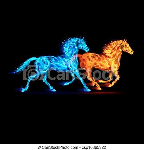 火, horses. - csp16365322