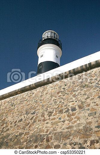 灯台, サルバドール, da, barra, 浜, bahia - csp53350221