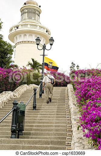 灯台, 公園, エクアドル, guayaquils - csp1633669